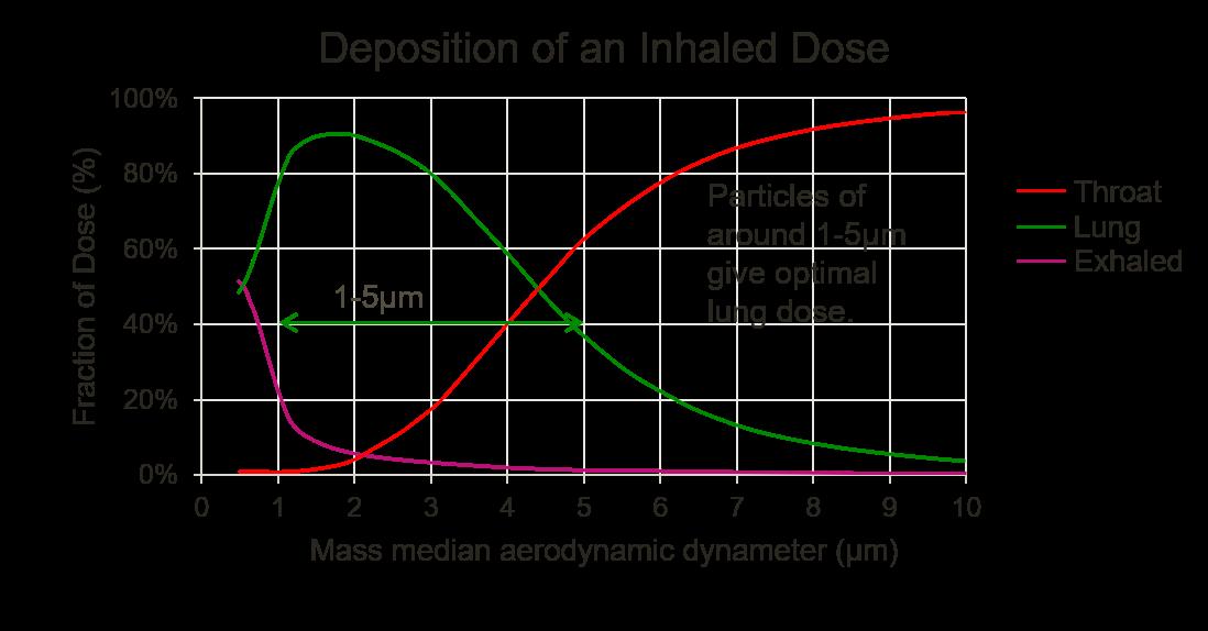 Seretide Evohaler asthma particle size data